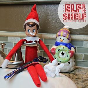 Elf on the Shelf ideas: Shaving