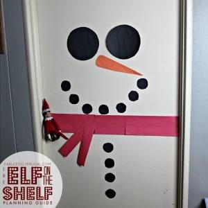 Elf on the Shelf Snowman Door