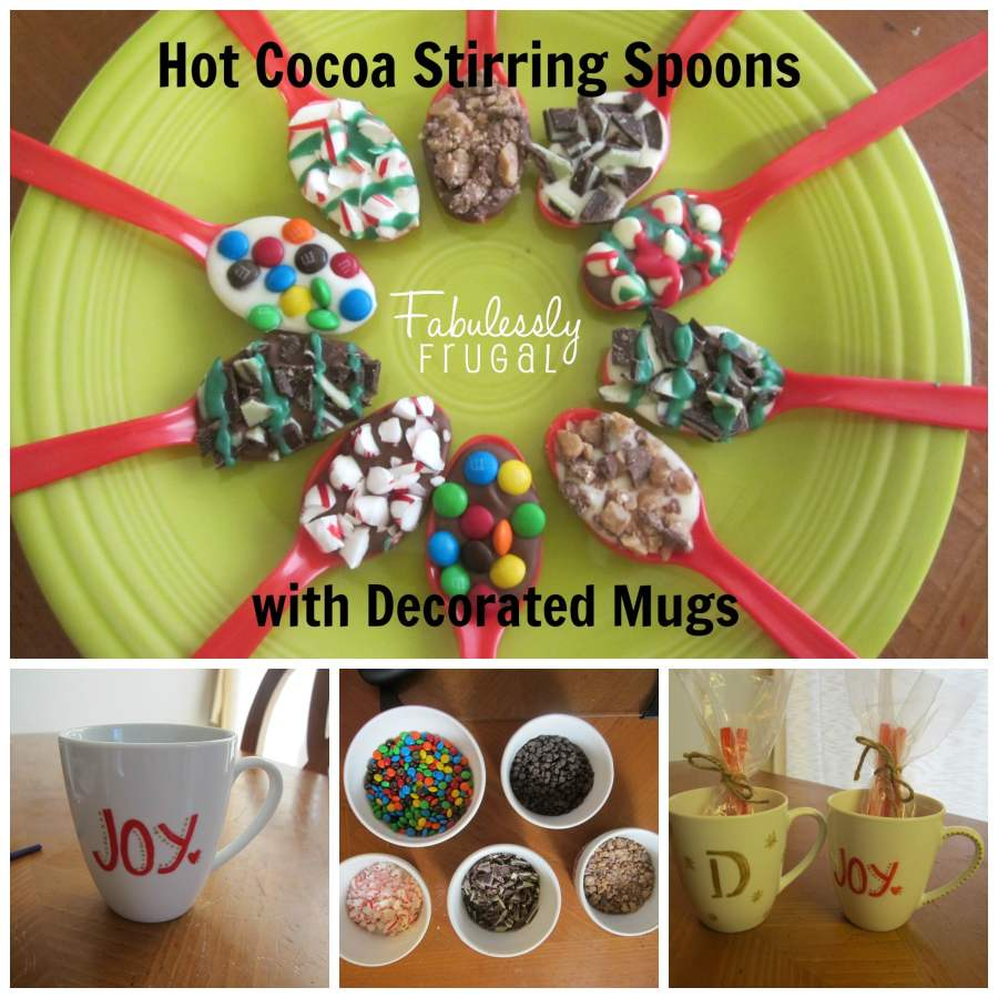 Hot chocolate mug with spoon