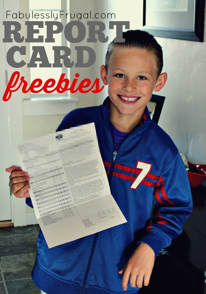 Report Card Freebies and Good grade rewards