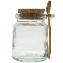 8oz Glass Jar with Spoon