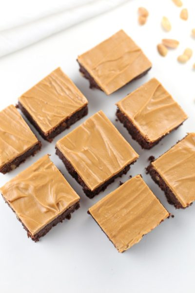 Low carb chocolate peanut butter brownies