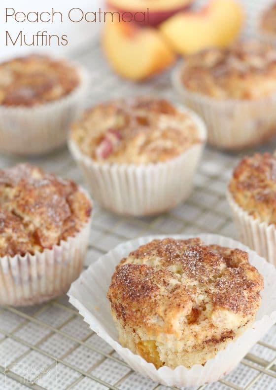 The best Peach Oatmeal Muffins