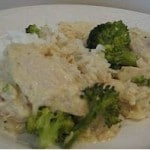 cream cheese chicken and rice: make ahead freezer meals
