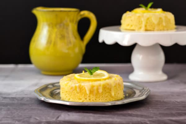 Low carb lemon poke cake