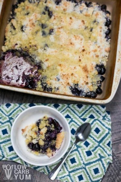 Easy Keto Blueberry Cobbler