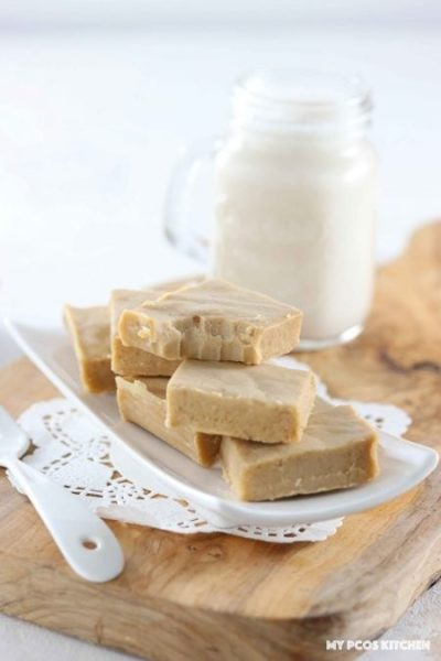 Low carb sugar free maple fudge