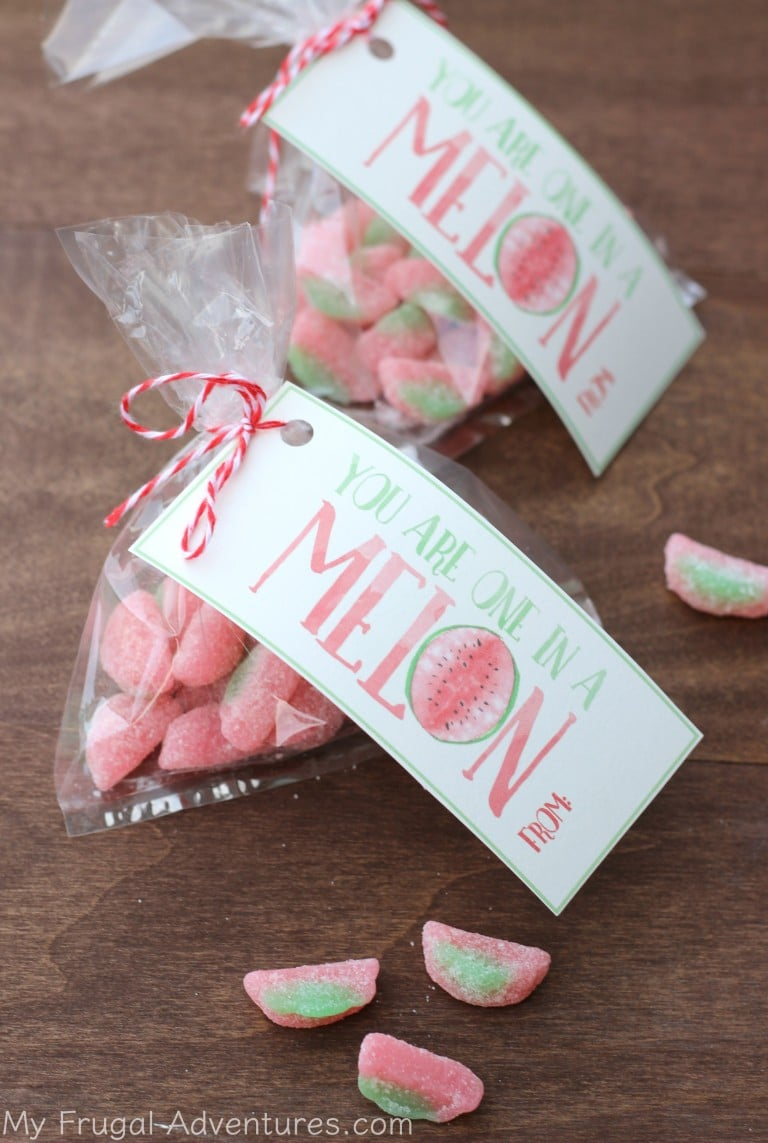 Melon goodie bag for Valentine's Day