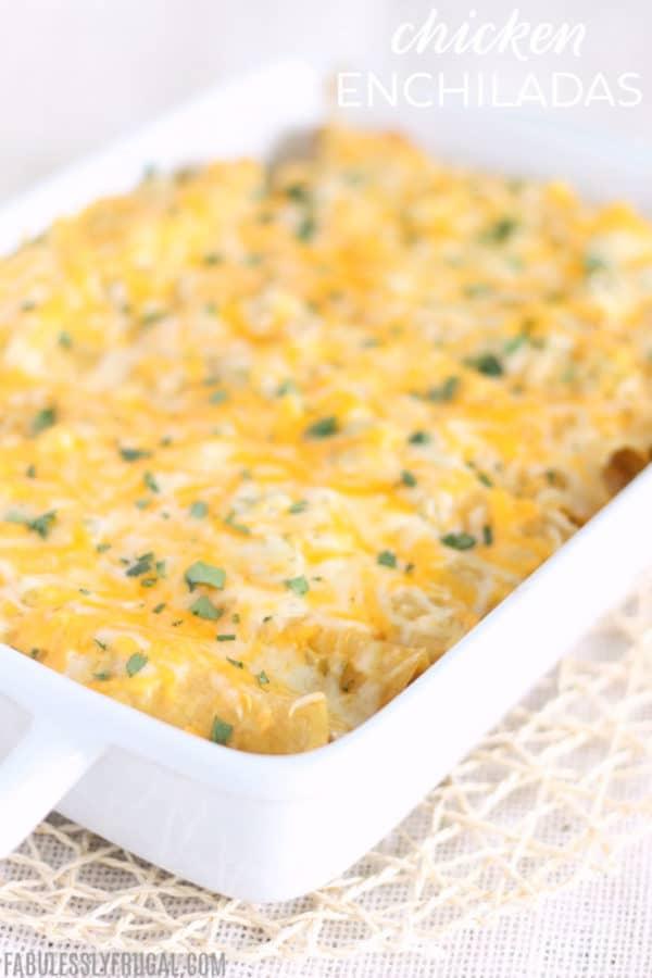 easy chicken enchiladas freezer meal recipe