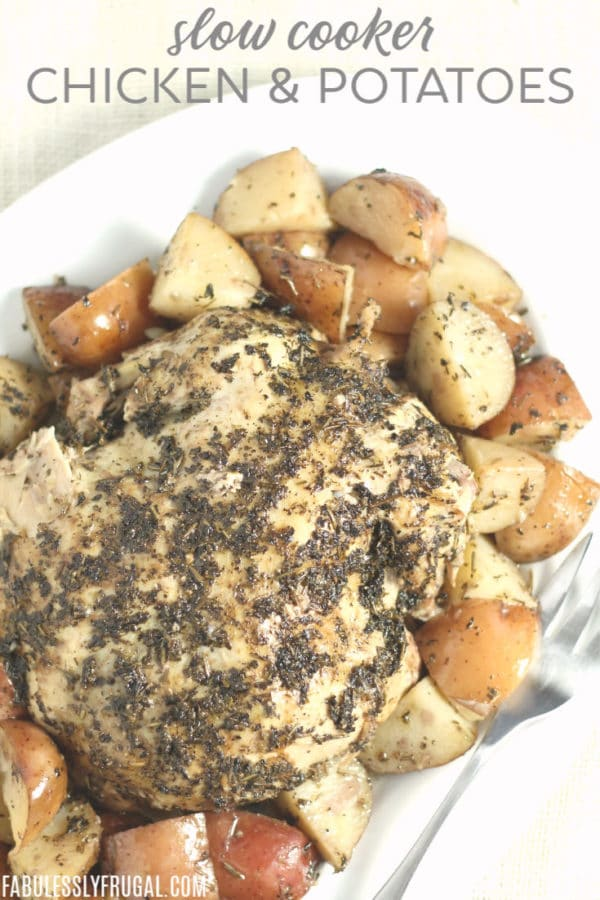 _slow cooker or crockpot chicken and potatoes recipe