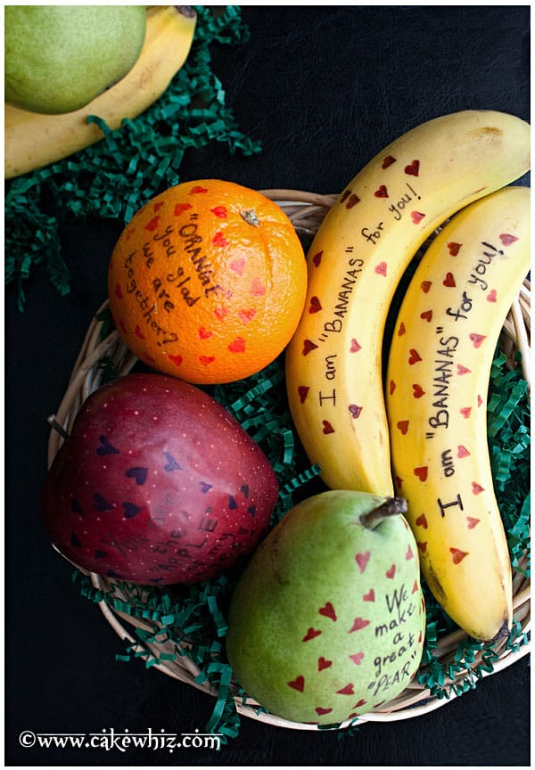 Fruit messages for Valentines