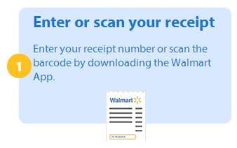 walmart savings catcher - enter or scan your receipt