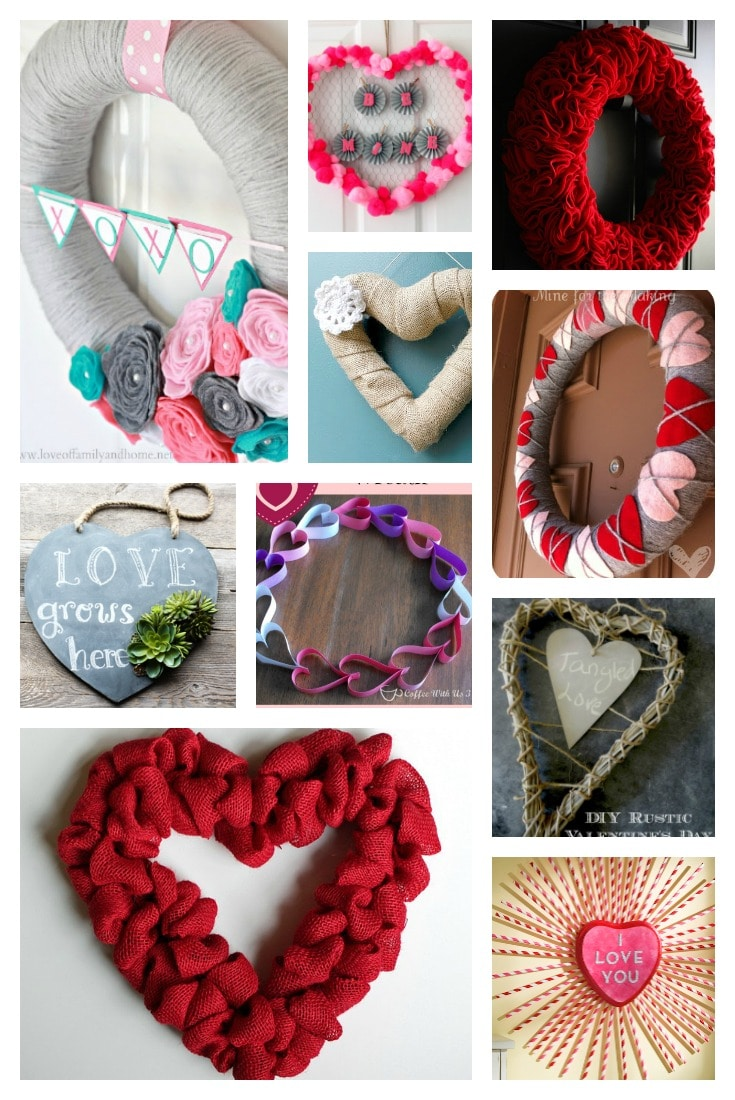 DIY Valentine wreath ideas