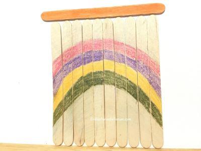 DIY Popsicle stick puzzle