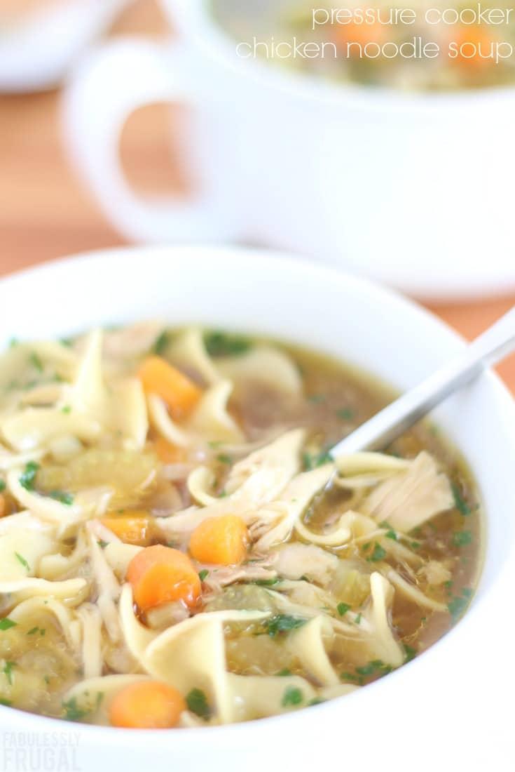 Pressure cooker chicken noodle soup
