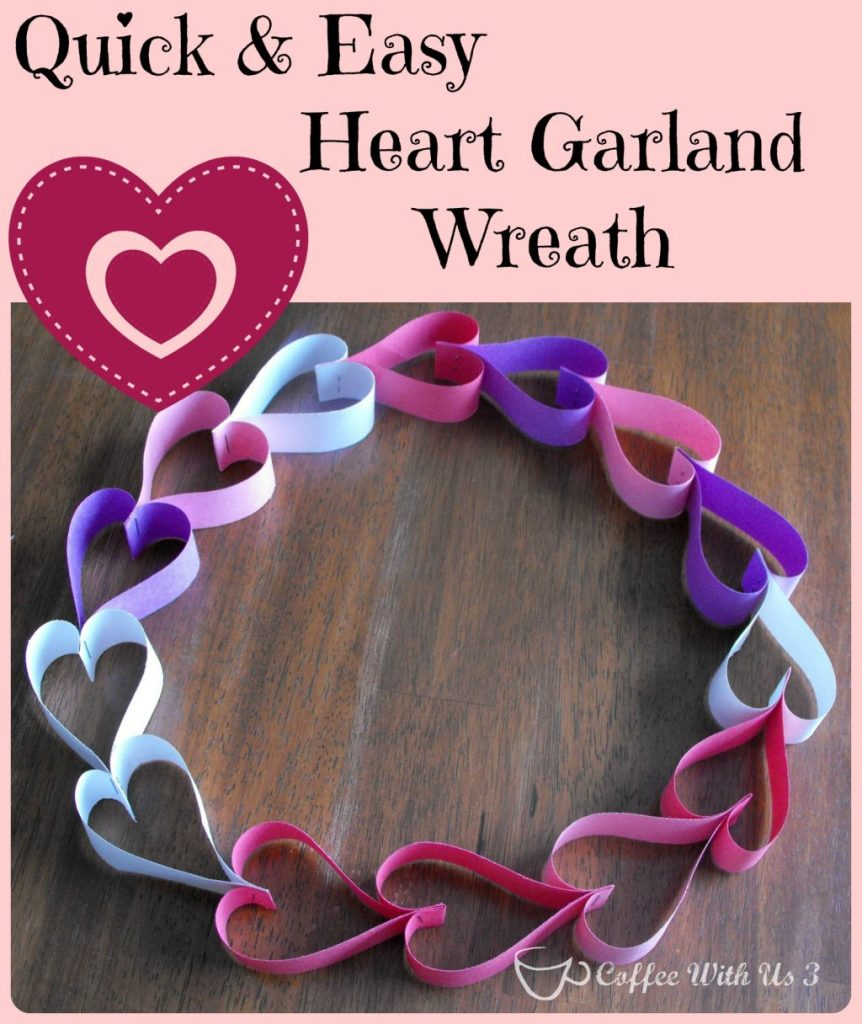 Easy heart garland wreath