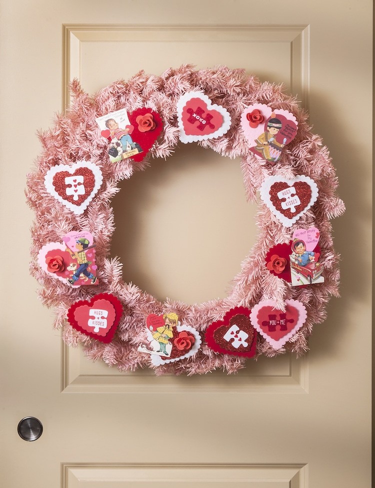 Vintage card wreath