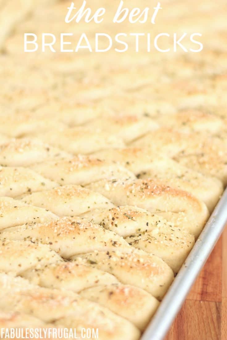 easy breadstick recipe - homemade breadsticks in 1 hour!