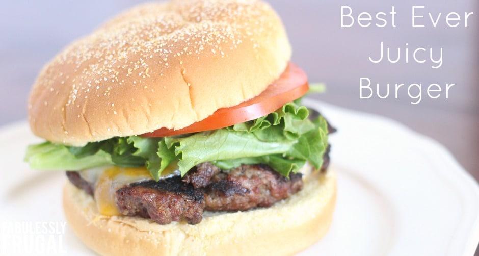 Best juicy burger recipe