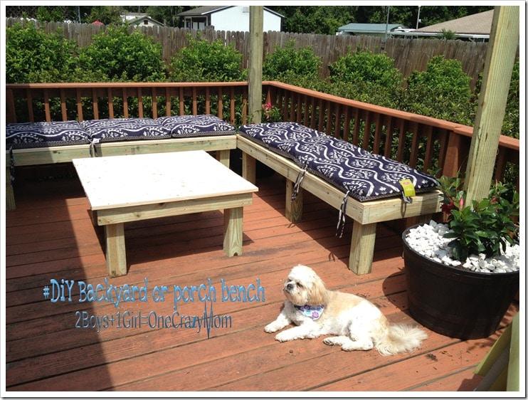 Backyard seating weekend project