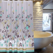 Amazon: Water Repellant Shower Curtain with 12 Hooks $5.99 (Reg. $29.99)
