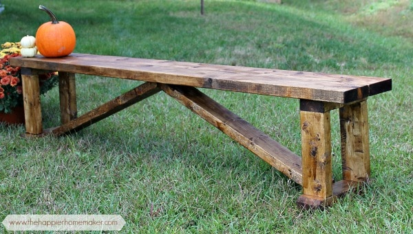 Frugal rustic bench