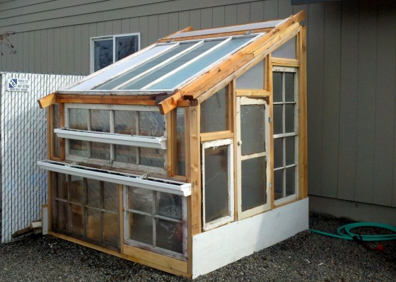 Build a lean to greenhouse