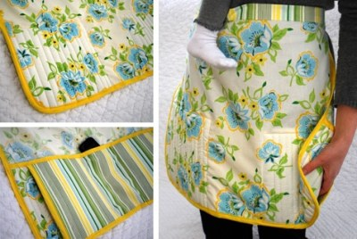 DIY Apron with built in iphone holder and more