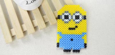 Cute Minion out of Perler Beads
