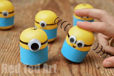 Weebles made from Kindersurprise Egg