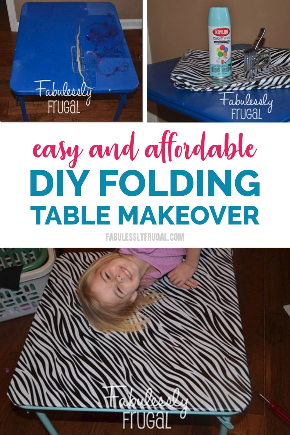 Easy and affordable DIY folding table makeover