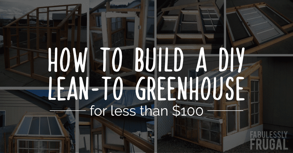 How to build a lean to greenhouse for less than $100