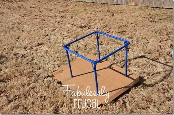 Painting the folding table