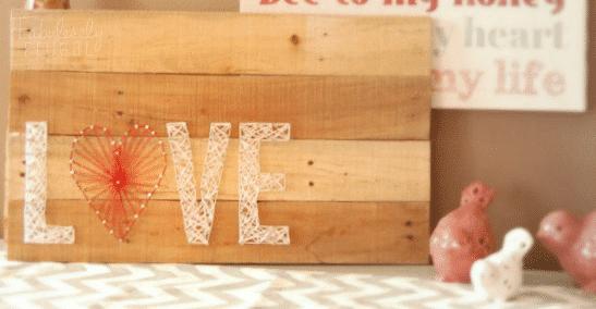 DIY String art love