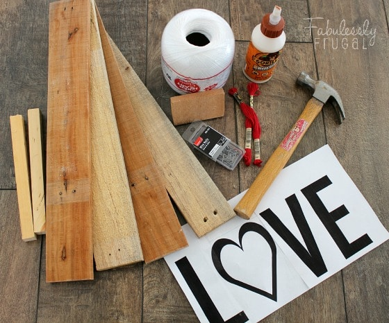 Love string art supplies