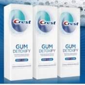 Amazon: 3 Pack Crest Gum Detoxify Toothpaste, 4.1 oz $10.49 (Reg. $20.91)