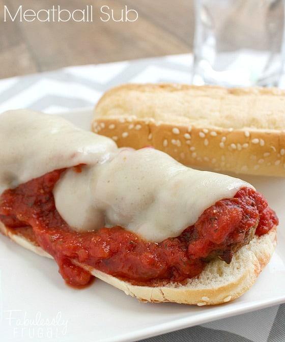 marinara meatball sub sandwich recipe