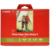 Amazon: 400 Sheets Canon Ink Photo Paper Plus Glossy,  4