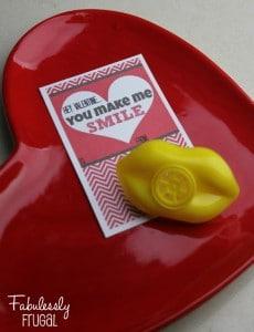 You make me smile DIY Valentines day card
