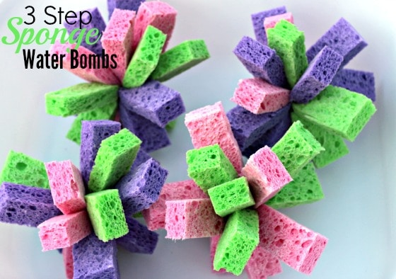 Easy 3 step sponge water bombs
