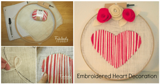 Embroidered Heart Decoration