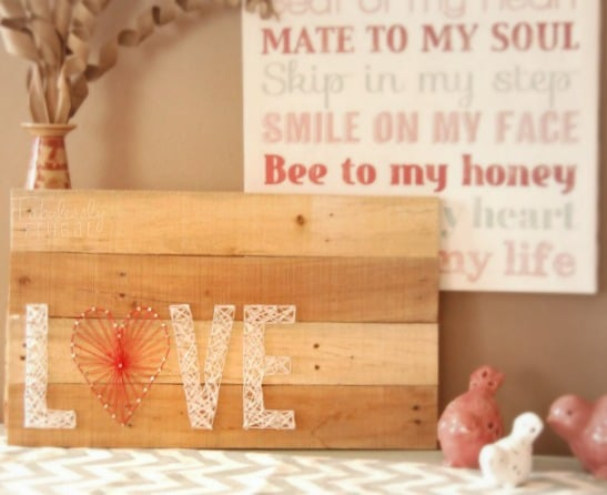 valentine's day love string art pallet decor