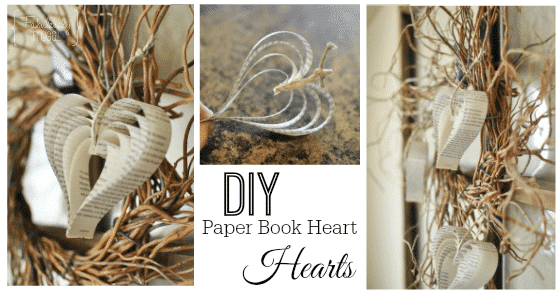 DIY valentines day paper hearts