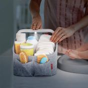 Amazon: Light-Up Diaper Caddy, Grey $31.99 (Reg. $52) + Free Shipping