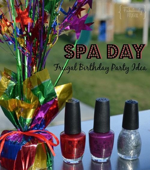 Spa Day Birthday Idea