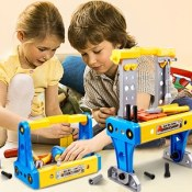 Amazon: 70-Piece Kids Deluxe Toy Workbench and Tool Set $9 (Reg. $27.99)