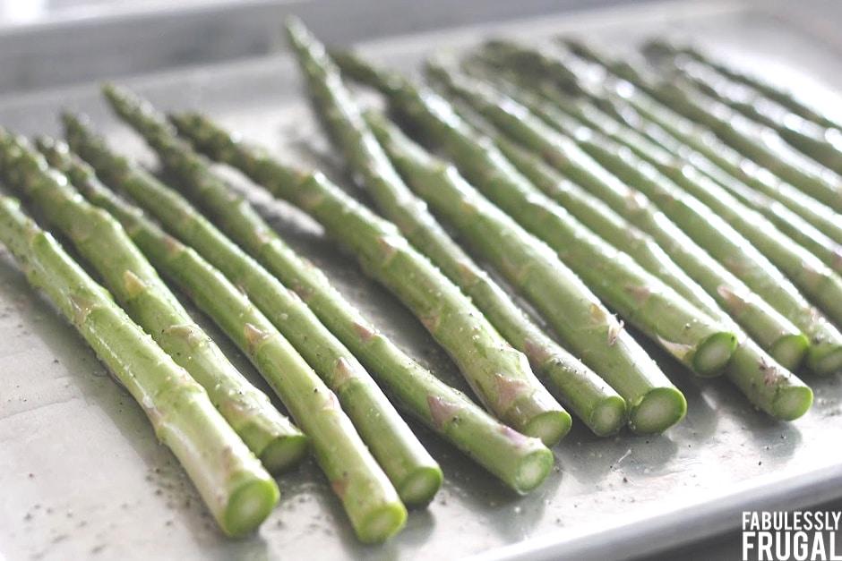 Asparagus on a pan