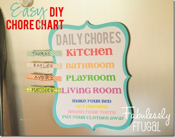 Customizable DIY chore chart