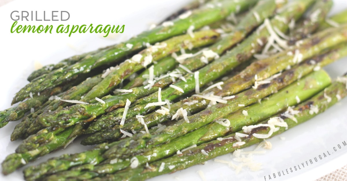 Grilled lemon garlic asparagus recipe