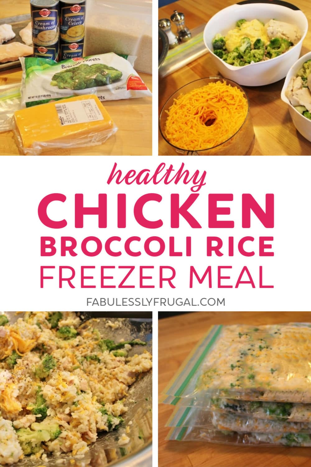 Chicken broccoli rice freezer meal